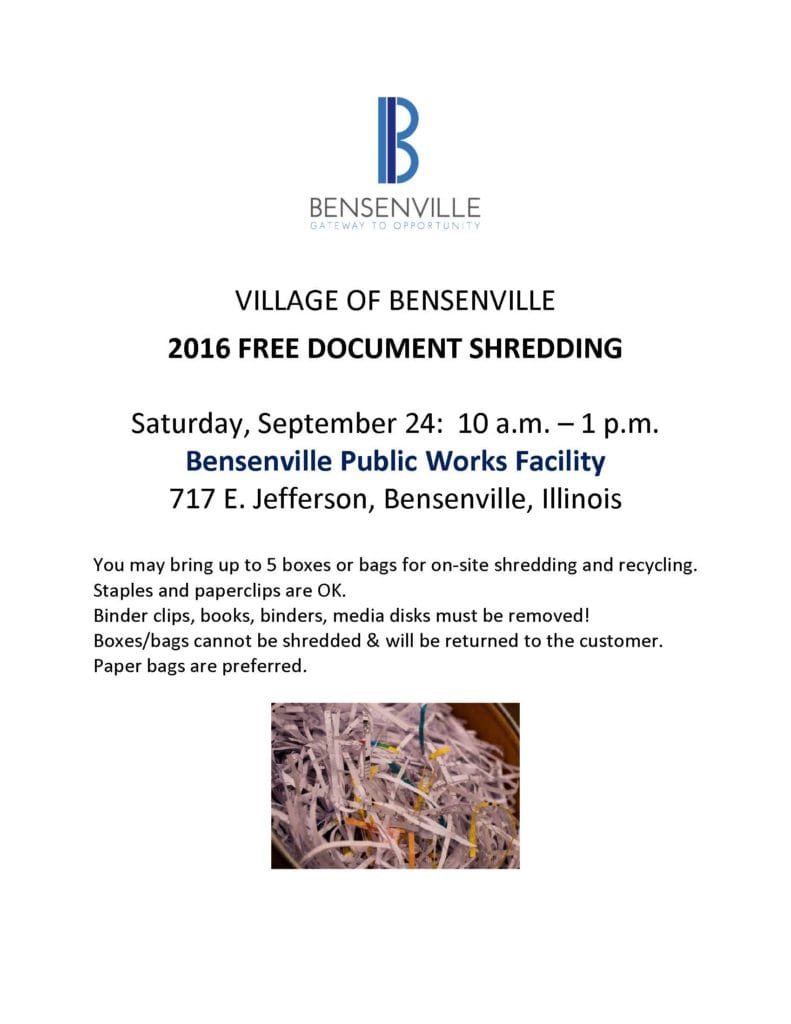Bensenville Shred 2016