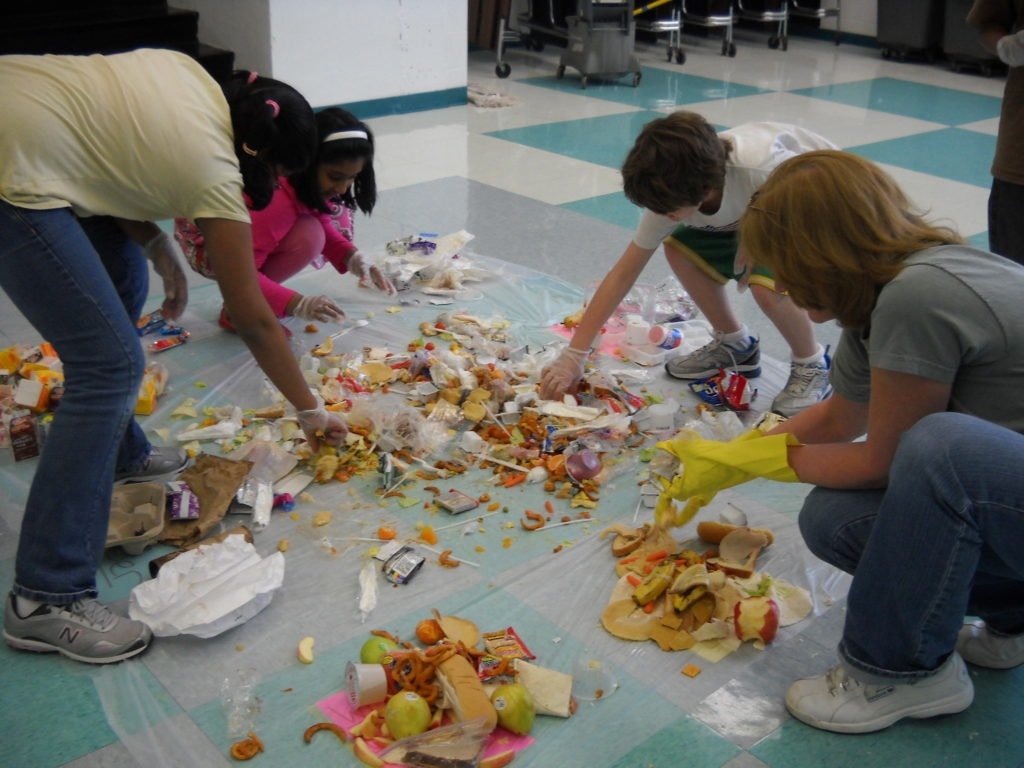 Students Sorting Waste Audit