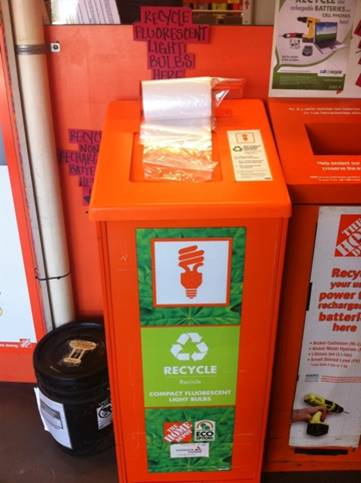 Home Depot Cfl Bulb Recycling Station
