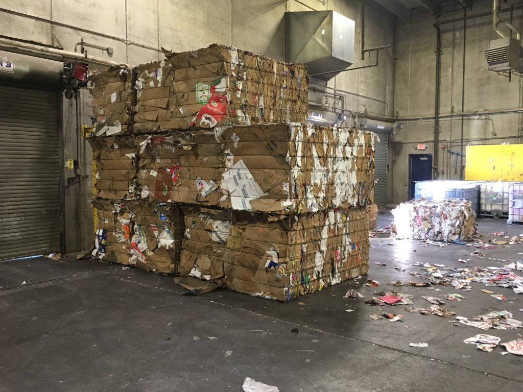 cardboard-bales-lakeshore-recycling-field-trip