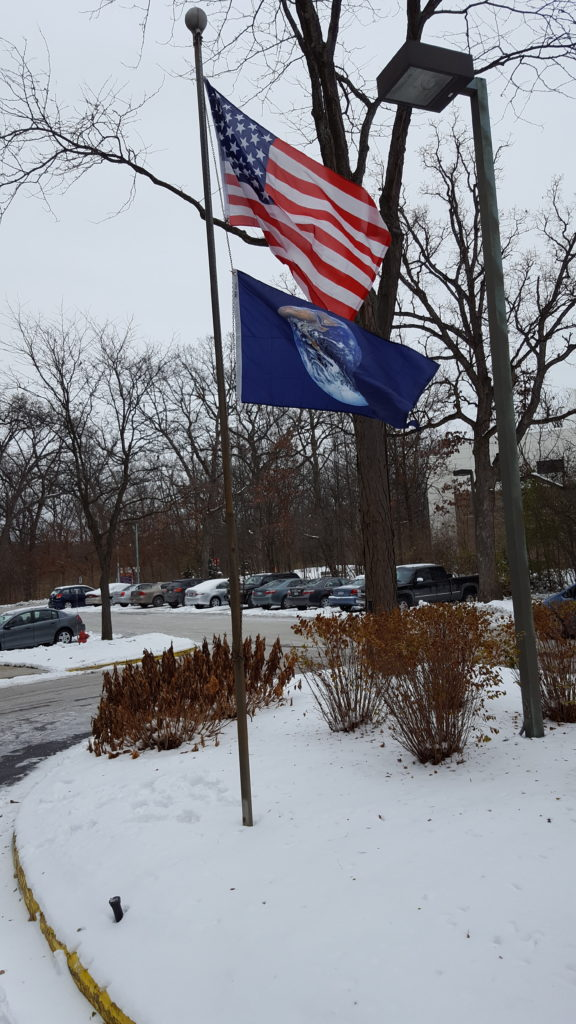 earth flag fall 2016 peace memorial manor downers grove