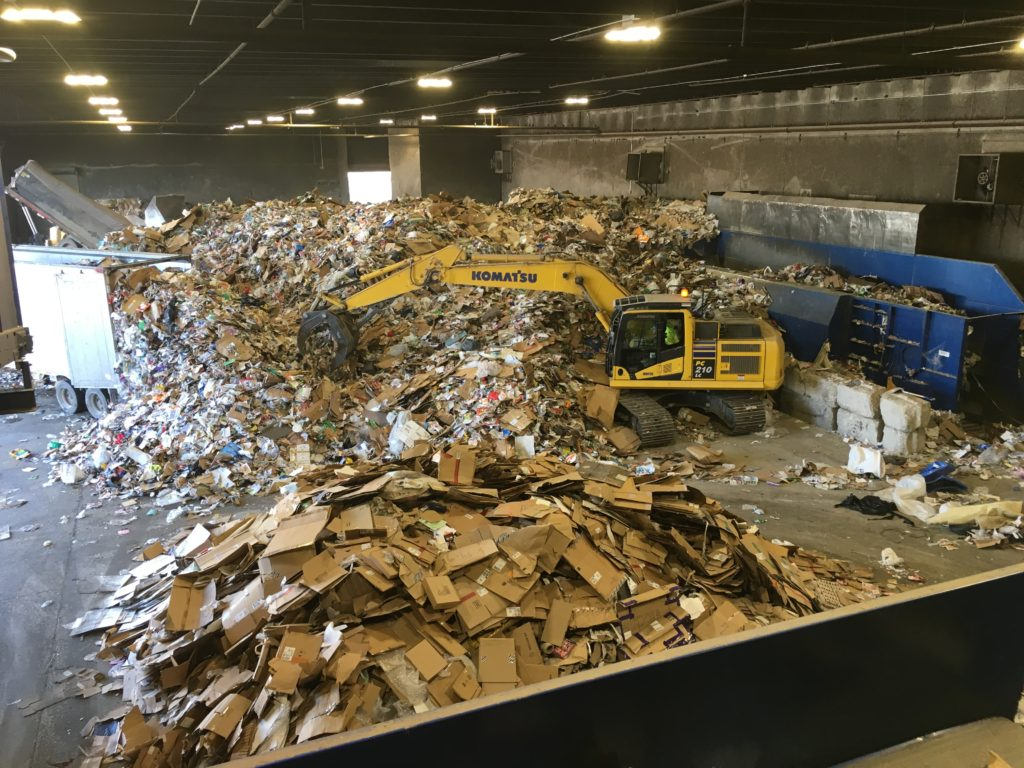 lakeshore recycling systems tip floor field trip