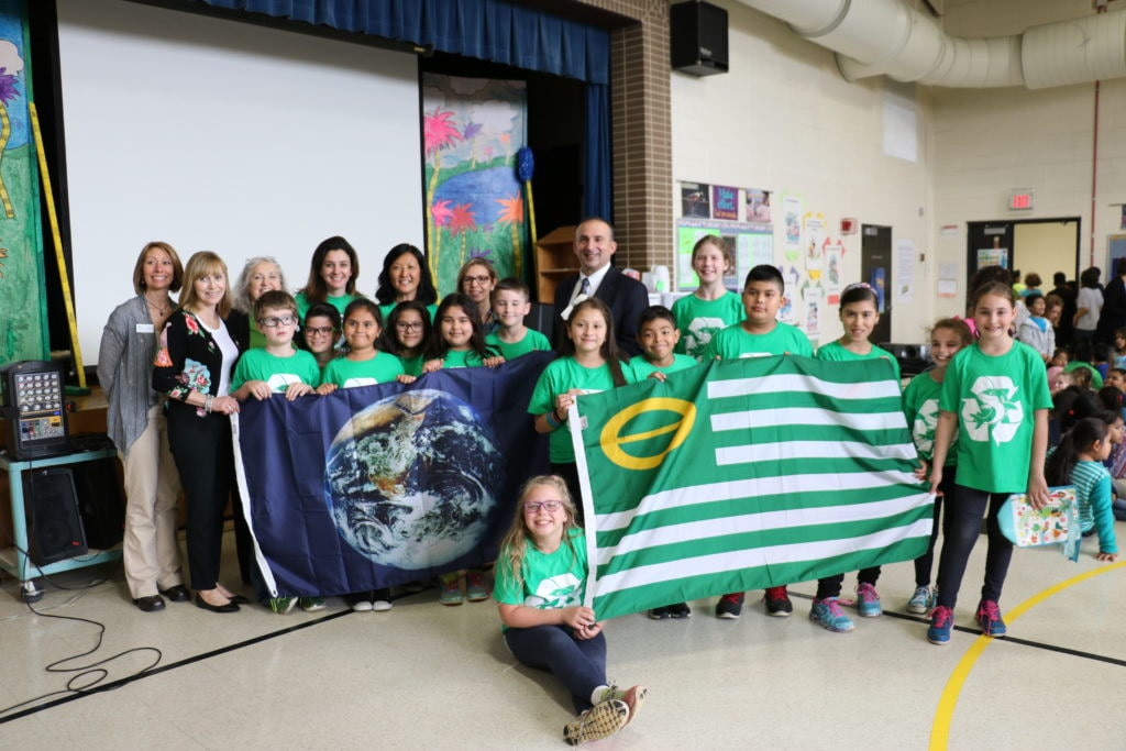 six eco flags earned by local schools church during earth month