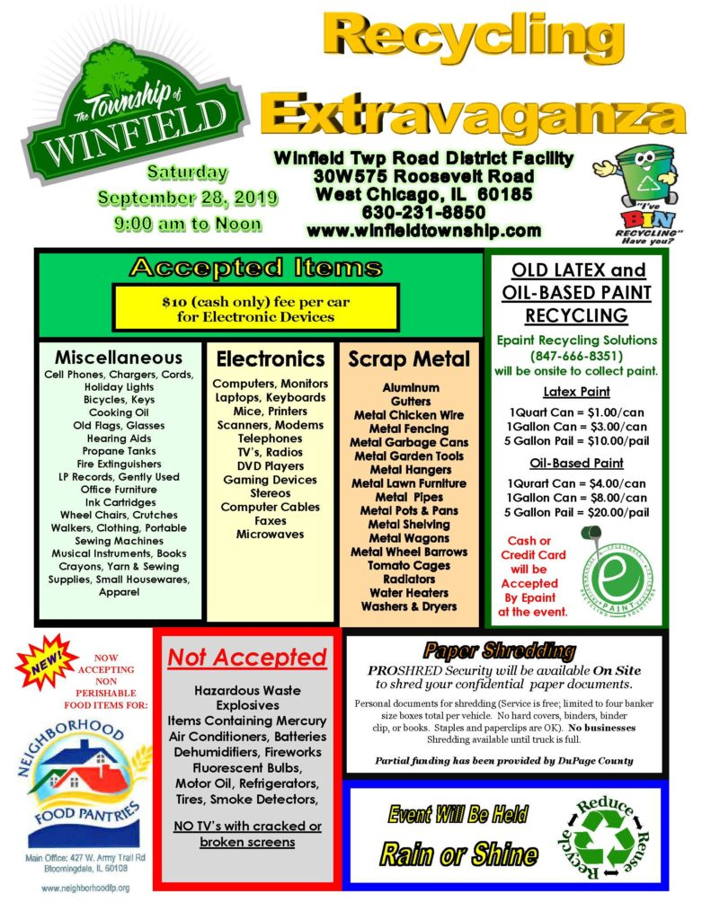 Winfield Township Recycling Extravaganza - SCARCE