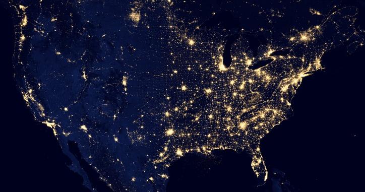 light pollution, space, US, dark skies