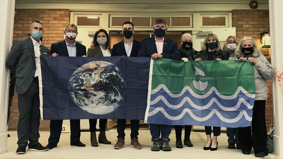 clarendon hills earth flag water quality flag presentation